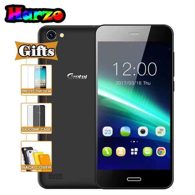 Цена за Гретель A7 4.7 Дюйма Quad Core Android 6.0 GPS Мобильного Телефона MT6580 1 ГБ RAM 16 ГБ ROM Смартфон 8.0 МП Камера Dual SIM 3 Г Мобильный телефон