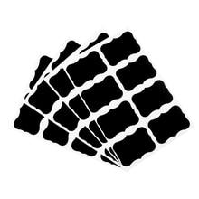 40pcs/pack Cloud Flower Blank Black Self adhesive Sealing Sticker Writable Reusable Waterproof box lab
