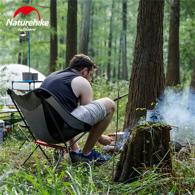Naturehike Portable Folding Chair Outdoor Ultralight Fishing Stool Director Camping Beach Chair Art Sketch Chairs-in Camping Chair from Sports & Entertainment