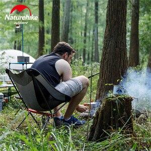 Image 1 - Портативный складной стул Naturehike, ультралегкий уличный стул для рыбалки, походный пляжный стул, художественные стулья для набросков
