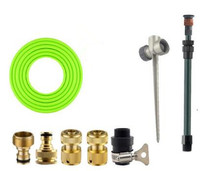 All Brass Quick Garden Hose Adaptor Lawn Nozzle With 5m PVC 1 2 Garden Hose Water