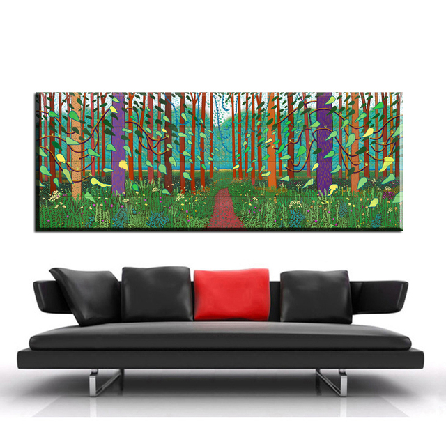 Zz1055 David Hockney A Larger Oil Painting Huge Poster Sizes Giclee Print On Canvas For The
