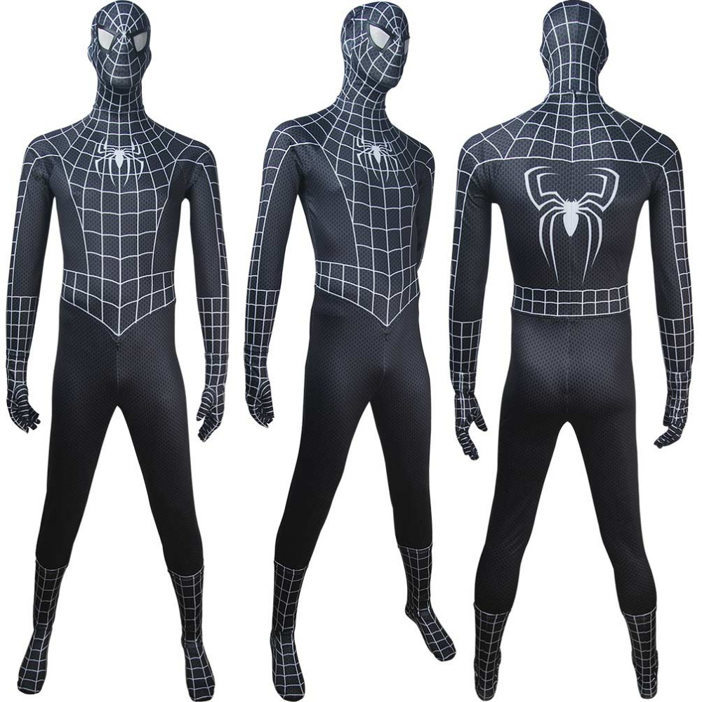 Adults Venom Spider-Man black costume superhero outfit halloween costume x'mas christmas gift toys comic-con make-up outfit