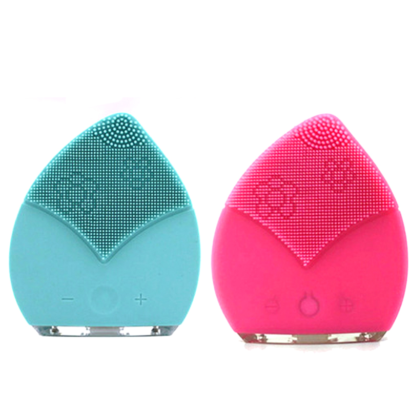 Deep Pores Makeup Cleaning Sonic Waves Waterproof Silicon Face Scrubber Facial Cleansing Brush Cleaner Skin Beauty Massager planet waves pw pl 01 restore deep cleaning cream polish