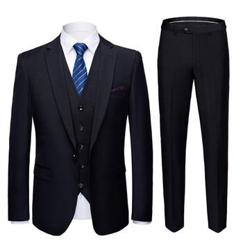 fa86b78155a Tres trajes (abrigo + Pantalones + chaleco) 21 colores casuales de negocios de  los hombres de trabajo Boda boda ocasiones trajes de gran tamaño S-6XL