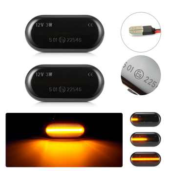 2pcs Led Dynamic Turn Signal Side Marker Light Sequential Blinker Light  For Nissan Qashqai Navara Micra Pathfinder Note 350Z - DISCOUNT ITEM  30% OFF All Category