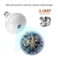 HD 1080P 3MP 360 Security wifi Camera Lamp Panoramic Bulb IP CCTV Video Surveillance Fisheye HD Night Vision Two Way Audio