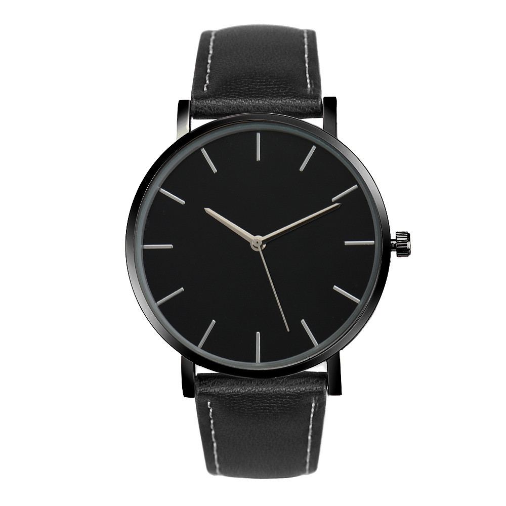 Relogio feminino Business Quartz Wrist Watches Men Women Watch Fashion Gold Faux Leather Band Female clock Saat erkekler 2017  недорого