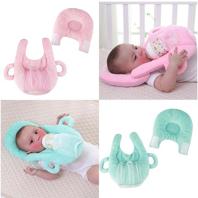 Multifunctional Baby Care Set for Baby Feeding Infant Nursing Pillow Baby Head Protection Cushion Pillows with Bottle Holder