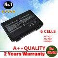 Al por mayor nueva batería del ordenador portátil para asus f52 f82 k40 k50 K51 K60 K70 K40E Series 90-A32-F52 NVD1B1000Y A32-F82 6 CÉLULAS envío gratis