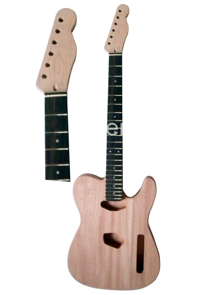 New High Quality Unfinished electric guitar body +neck rose wood fingerboard Mahogany body model free shipping new unfinished electric guitar with mahogany body silver blue large particles foam box f1669