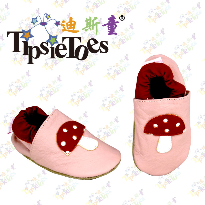 TipsieToes Brand High Quality Mushroom Slippers Kids Moccasins Soft Outsole Toddler Shoes First Walkers Autumn Spring Leather