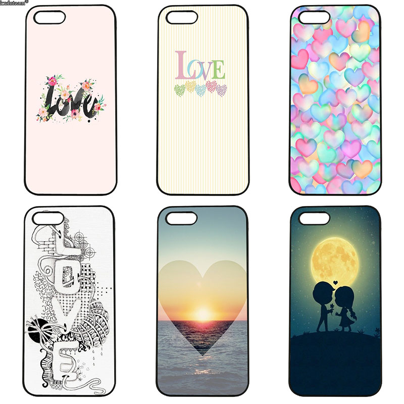 Colorful Artwork Love Design Phone Case Hard PC Plastic Cover for iphone 8 7 6 6S Plus X 5S 5C 5 SE 4 4S iPod Touch 4 5 6 Shell
