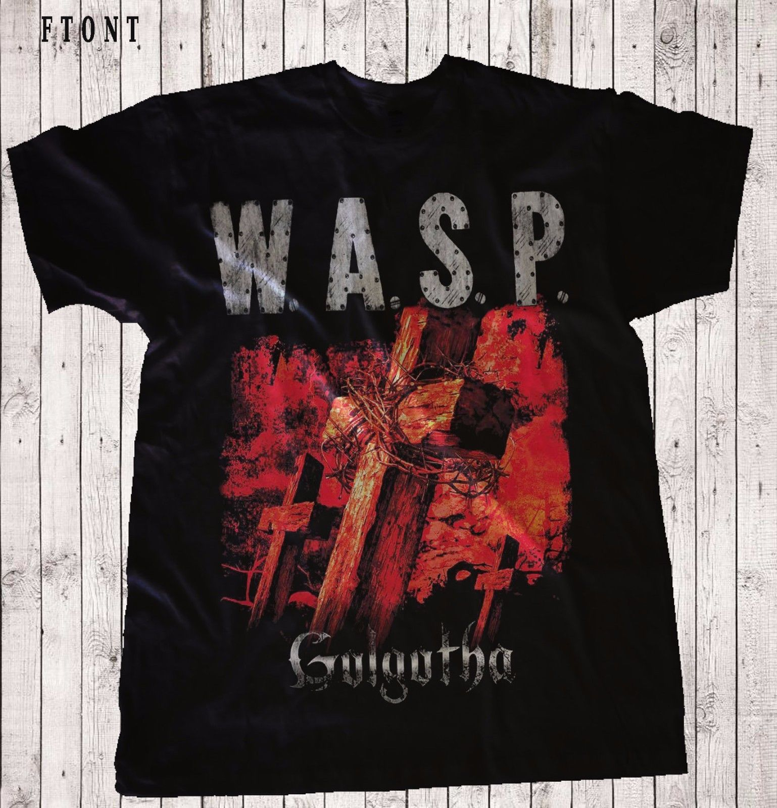 W.A.S.P.-Golgotha- Heavy metal-Judas Priest ,T-shirt-SIZES: S to 7XL