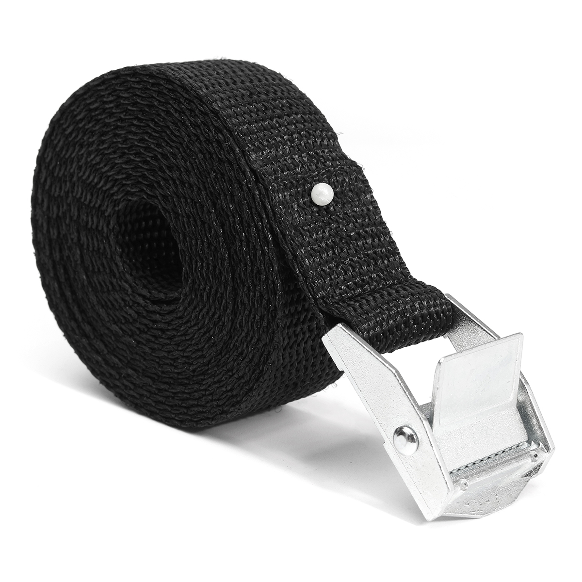 Car Tension Rope Tie Down Strap Strong Ratchet Belt Car Luggage Bag Cargo Lashing Strap Zinc Alloy Zinc Nylon Black