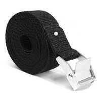 Car Tension Rope Tie Down Strap Strong Ratchet Belt Car Luggage Bag Cargo Lashing Strap Zinc Alloy Zinc Nylon Black