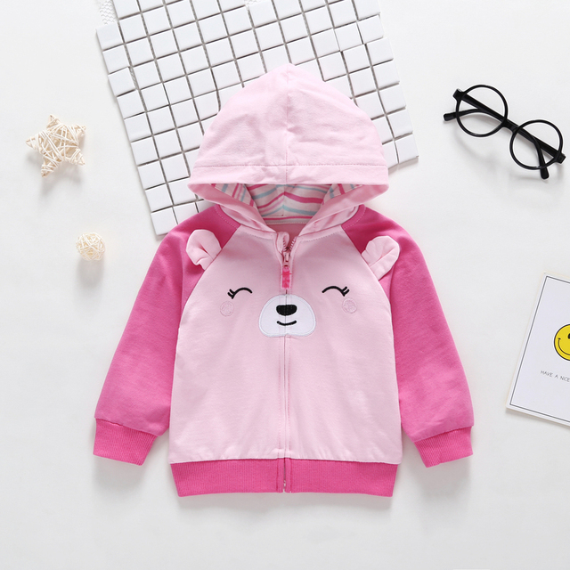 2019 Rushed New  Menino Autumn Winter Warm Baby Clothes Girls Sleeve Hoodies Boy Sweatshirt With Zipper Dot Outfits 3