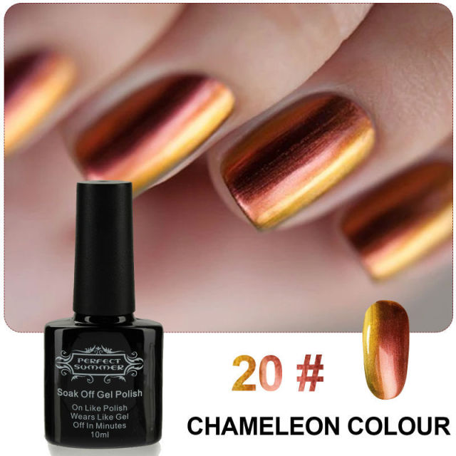 Perfect Summer Gel Polish Chameleon Nail Gel 10ml Soak off LED UV Nail Gel High Quality Best Price Limited Sale