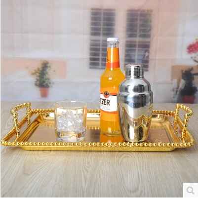 38 28cm rectangular gold serving tray tableware storage tray gold tray dishes drainer rack for food