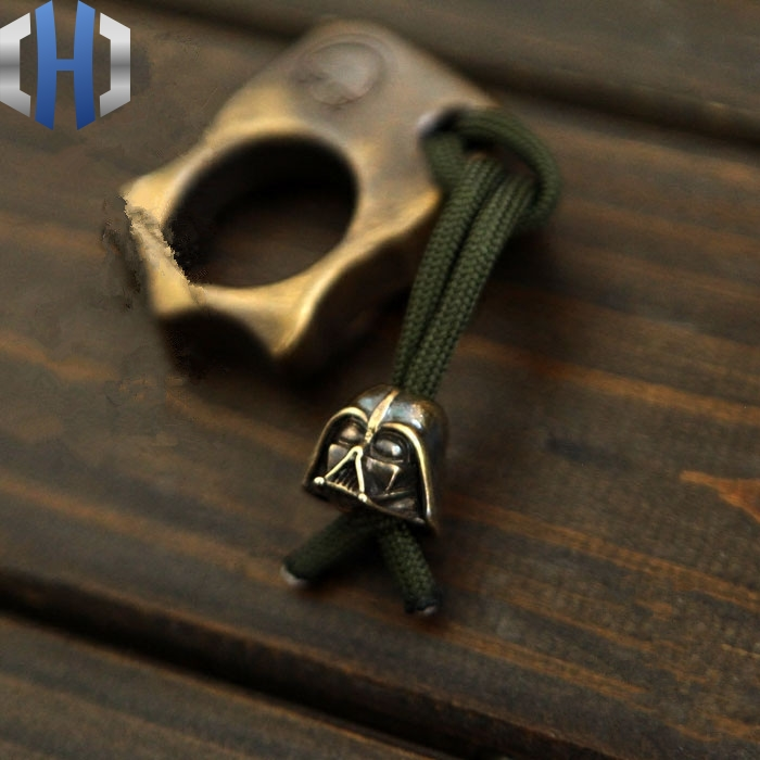 Brass Strap EDC DIY Brass Buckle Black Knight Umbrella Pendant Knife Flashlight Pendant