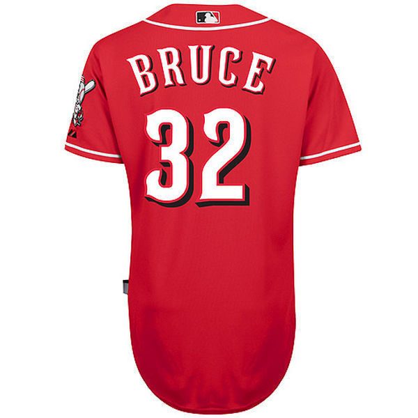 MLB Mens Cincinnati Reds Jay Bruce Baseball Red Spanish 6300 Player Authentic Cool Base Jersey
