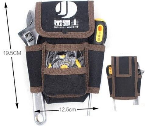 גינון 600D אוקספורד כלי Bag חגור מותני תיק מותני Pocket חיצוני עבודה ידנית כלי חומרת כיס אחסון חשמלאי גינון כלי (1)
