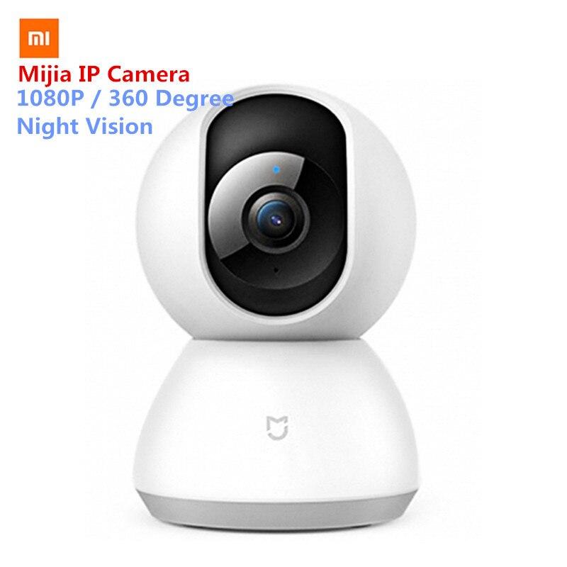 Original Xiaomi Mijia caméra intelligente berceau tête Version caméra IP 1080 P HD 360 degrés Vision nocturne pour Smart Home télécommande