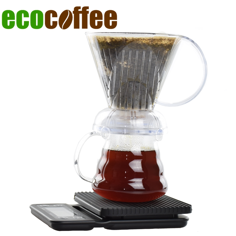 Free Shipping V60 Coffee Dripper Gift Sets Coffee Scale 600Ml Server Clever Dripper potFree Shipping V60 Coffee Dripper Gift Sets Coffee Scale 600Ml Server Clever Dripper pot