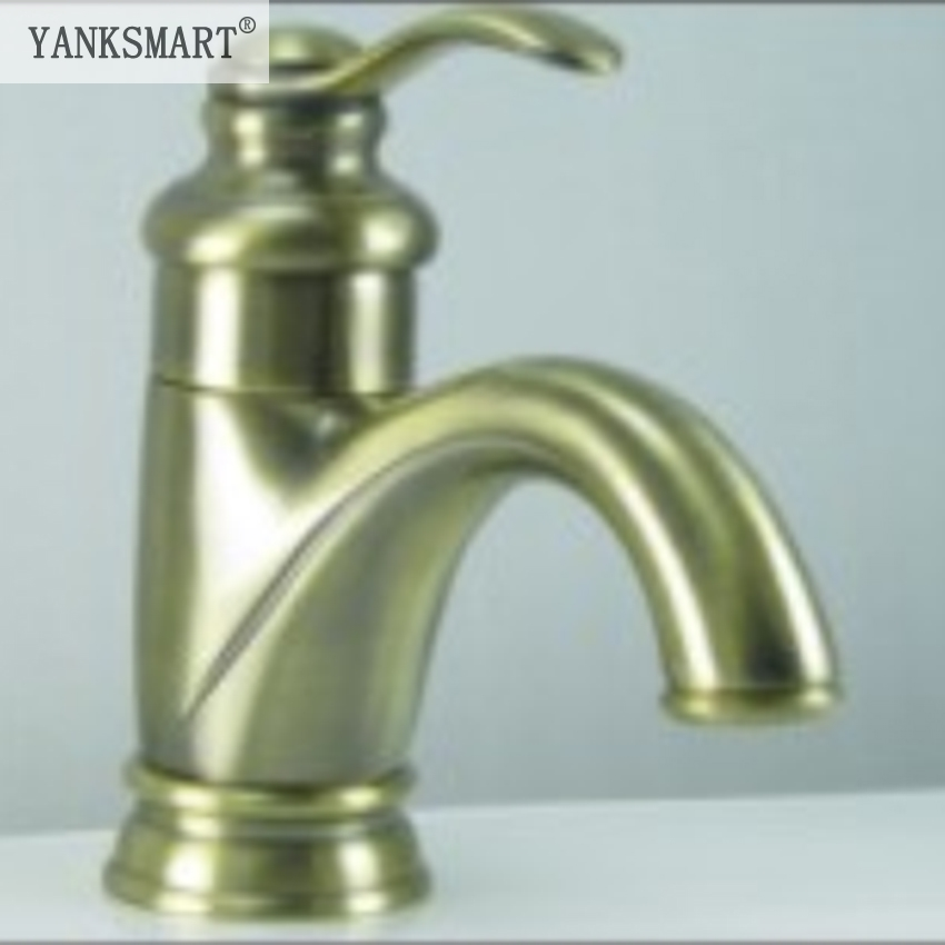 YANKSMART Bathroom Basin Faucet Antique Bronze Faucet Bath Basin Sink Bathroom Mixer Tap CM0055 Mixer Tap Faucet yanksmart bath