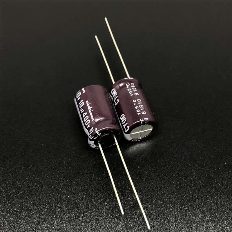 5Pcs/50Pcs 10uF 400V NICHICON CY Series 10x16mm High Ripple Current Long Life 400V10uF Aluminum Electrolytic Capacitor