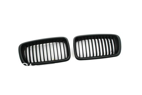 Replacement Euro Style Matte Black Front <font><b>Grille</b></font> For <font><b>BMW</b></font> <font><b>E38</b></font> 99-01 7 Series image