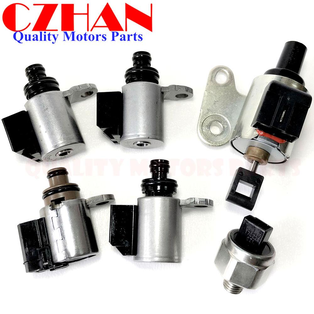 US $113 96 10% OFF|JF010E JF009E RE0F08A/B CVT Transmission kit control  solenoids,Stepper Motor,pressure sensor(No Harness) For Nissan RE0F09A/B-in