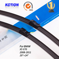"Car windshield wiper blade para bmw x5 e70 (2008-2011), 20 ""+ 24"", borracha Natural, bracketless limpa, Acessórios do carro"
