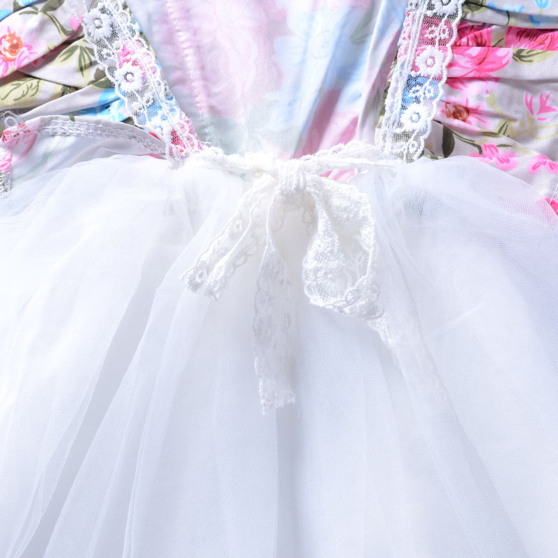 Humor Bear 2018 Tulle Girls Dress With Vintage Floral Top Summer Princess kids dresses for girls clothes