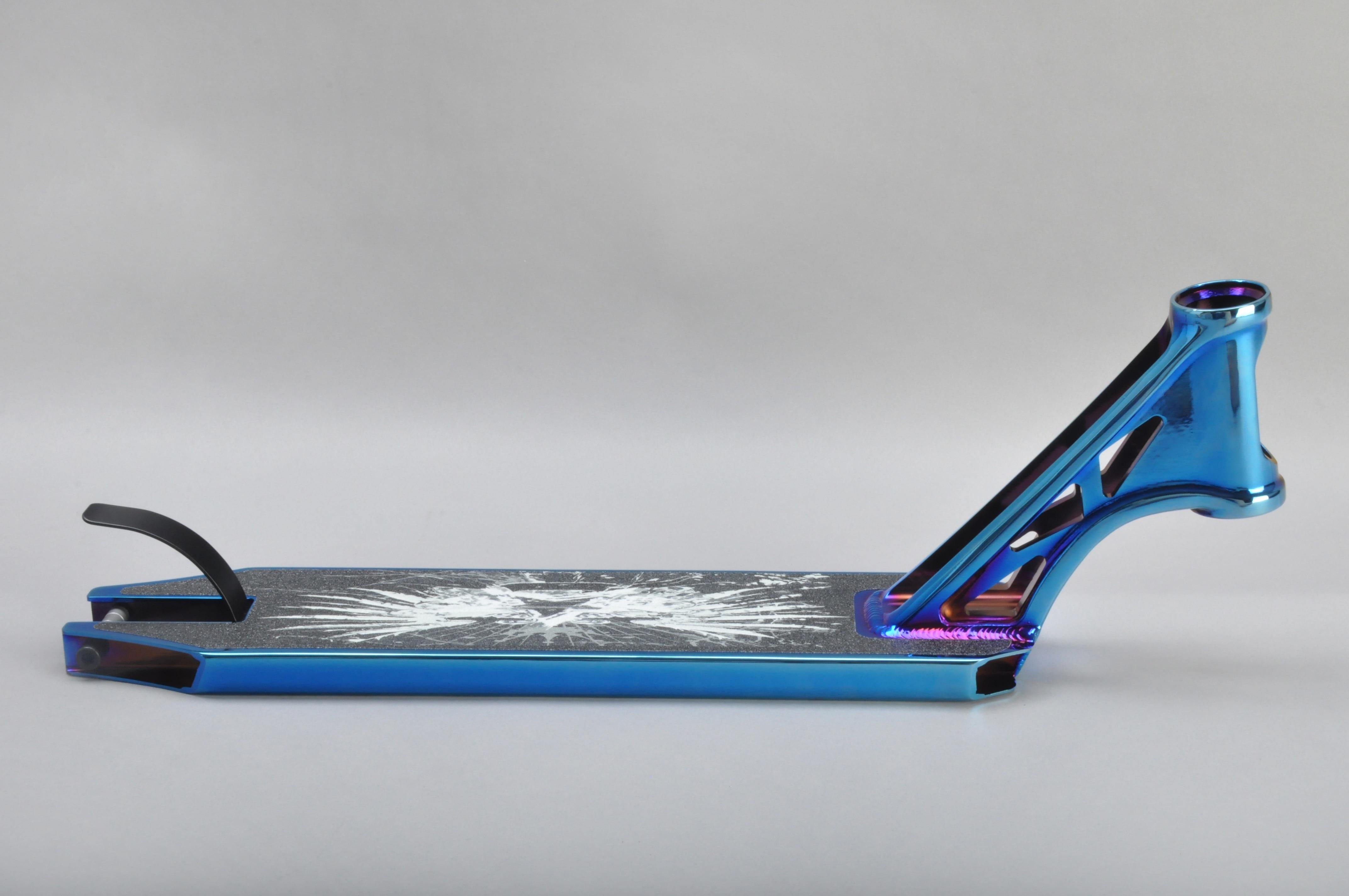 Funsea Chine fabricant nouveau performance en alliage d'aluminium 6061 scooter pièces PVD bleu kick scooter ponts stunt scooter pont