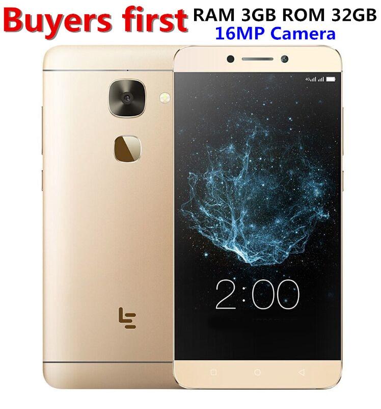 Original Letv X522 LeEco Le S3 4G LTE Mobile Phone 3 GB RAM 32 GB ROM Qualcomm MSM8976 Octa-core 5.5 Impressão Digital de 16MP smartphone