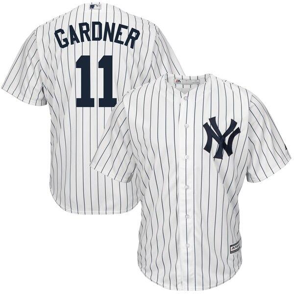 MLB Для мужчин Нью-Йорк Янкиз Бретт Гарднер величественного Белого дома прохладный база плеер Джерси