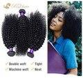 7A barato peruano virgem cabelo kinky curly 3 pçs/lote BQ Virgin cabelo tece não transformados peruano extensão do cabelo humano kinky curly