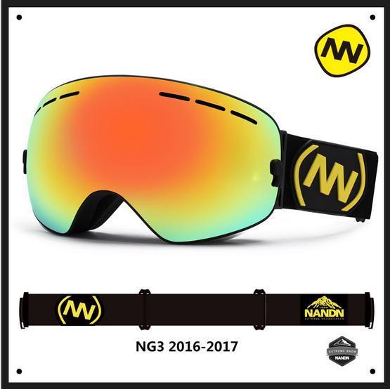 Nandn Professionnel Double Couche Anti-Brouillard Hommes Femmes Lentilles Sphériques Camouflage Cadre Ski Snowboard Google Modifiable Objectif