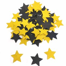 100pcs Glitter Black Gold Paper Confetti For Wedding Party Table Decoration DIY Graduation Throwing Supplies