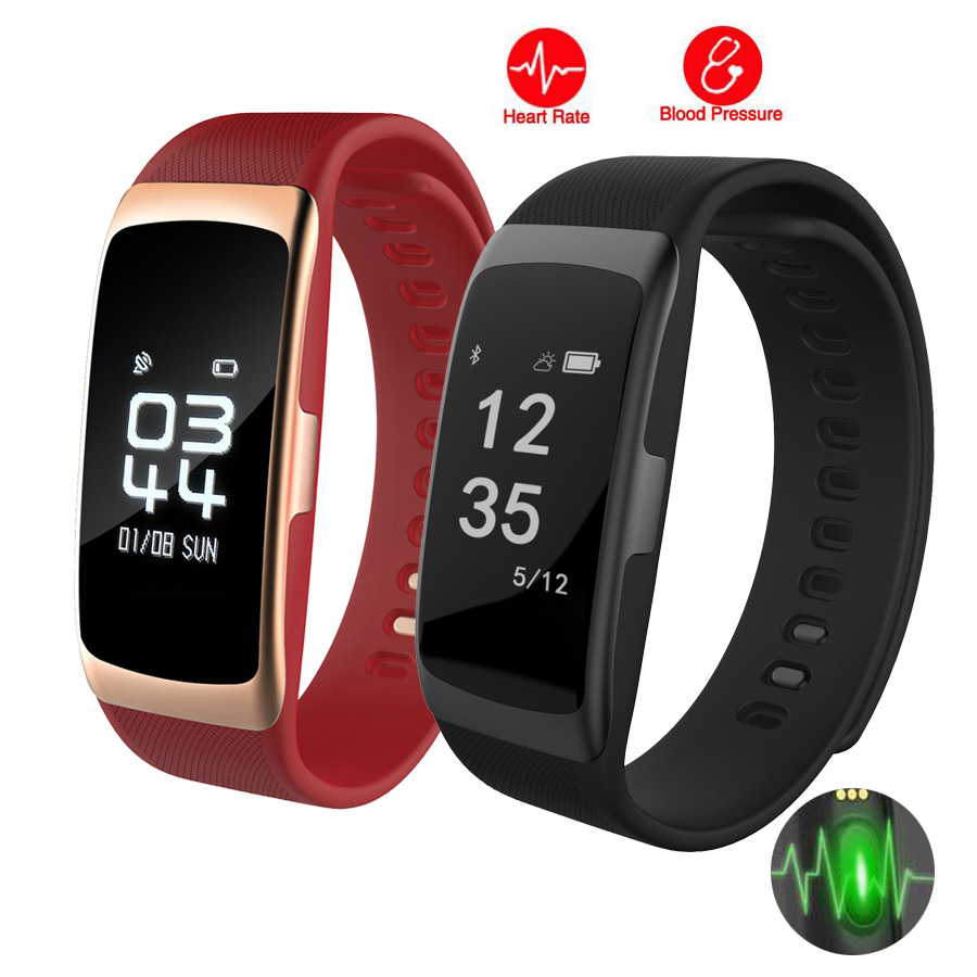 Blood pressure Smart bracelet Sports Watch Heart Rate Monitor Pulse Bluetooth Health Clock Smart wristwatch for men and Women the blood pressure bracelet is measured in the heart rate sleep monitor and the bluetooth waterproofing movement bracelet
