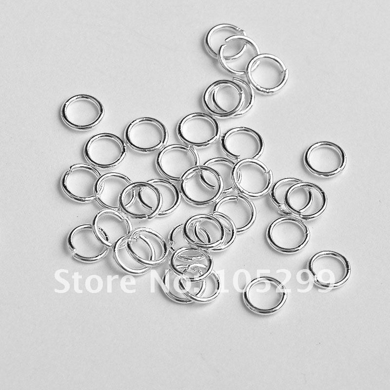 JEXXI Free Shipping 9mm Making Jewelry 925 Sterling Silver Findings Components 925 Sterling silver jewelry findings jump rings