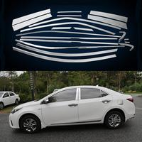 20Pcs/Set Car Styling Full Window Trim Decoration Strip For Toyota Corolla 2014 2015 2016 2017 2018 Accessories Stainless Steel