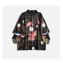 Blusas Mujer De Moda 2019 Japanese Kimono Women Shirts Harajuku Goldfish Chaqueta Kimono Mujer Tunic SMujer Tunic Sunscreen Tops недорого