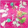 new scarf Tulip flowers in spring Ms. Silk scarves big squares 90 cm * 90 cm