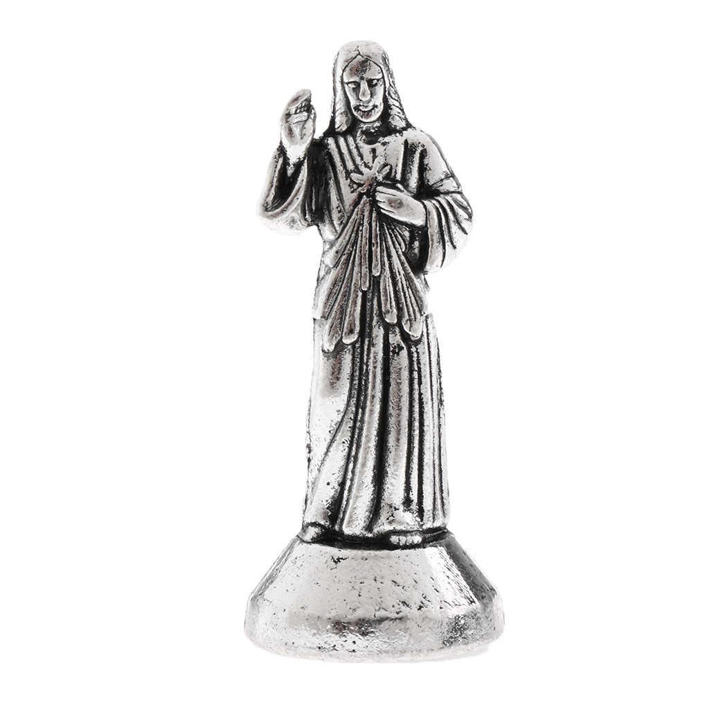 مصغرة يسوع المقدسة الدينية تمثال المغناطيسي تمثال للتزين ديكور المنزل تمثال التماثيل الدينية المقدسة