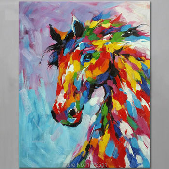 Horse Animal Painting Oil painting On Canvas Wall Pictures Painting For Living Room Wall Art Canvas modern hand painted paint