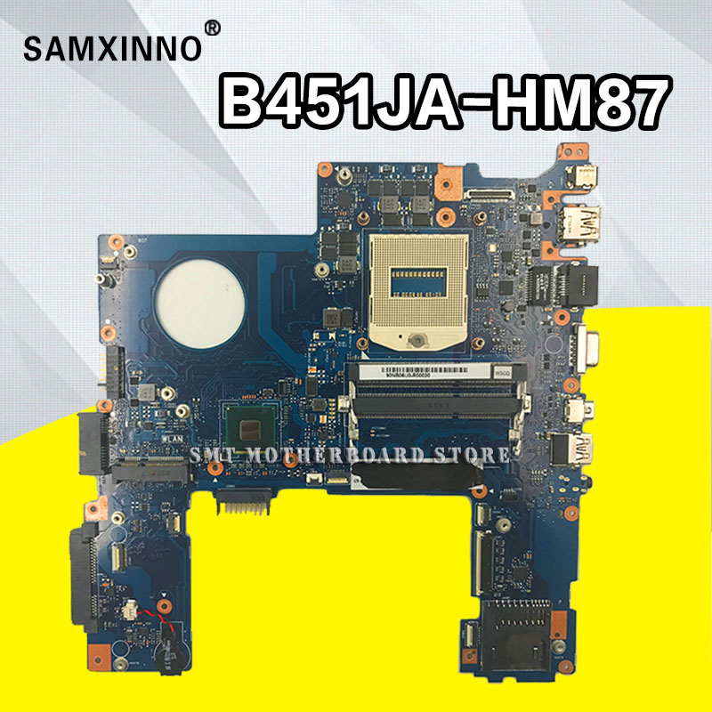 B451JA Mainboard For ASUS B451J B451JA Laptop motherboard Intel SR17D HM87 DDR3L 100% fully tested Motherboard for asus 23 6 et2410 laptop motherboard mainboard la 7522p 100% tested fast ship