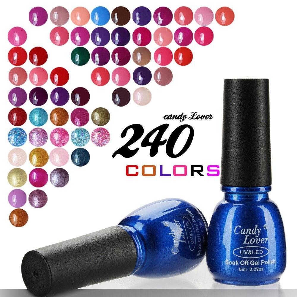 Candy Lover red color gel nail polish 8ml uv gel varnish Long ...