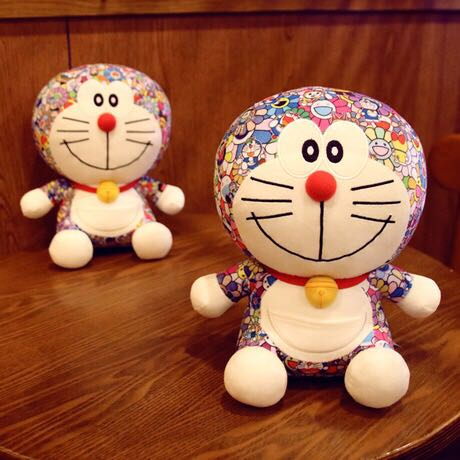 Uniqlo Murakami doraemon doll colorful jingo cat plush toy super soft blue fat doll gift 8inchs